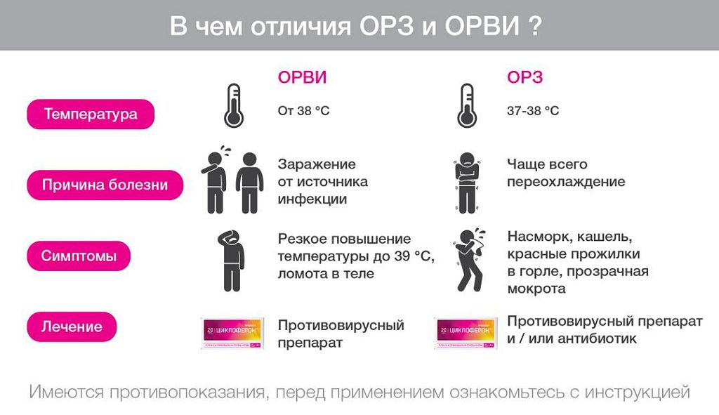 Диагнозы и расшифровка аббревиатуры ОРЗ и ОРВИ