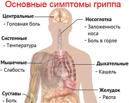 грипп симптомы