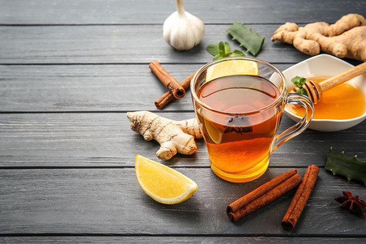 чай с имбирем лимоном и корицей