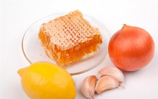 лук чеснок мед