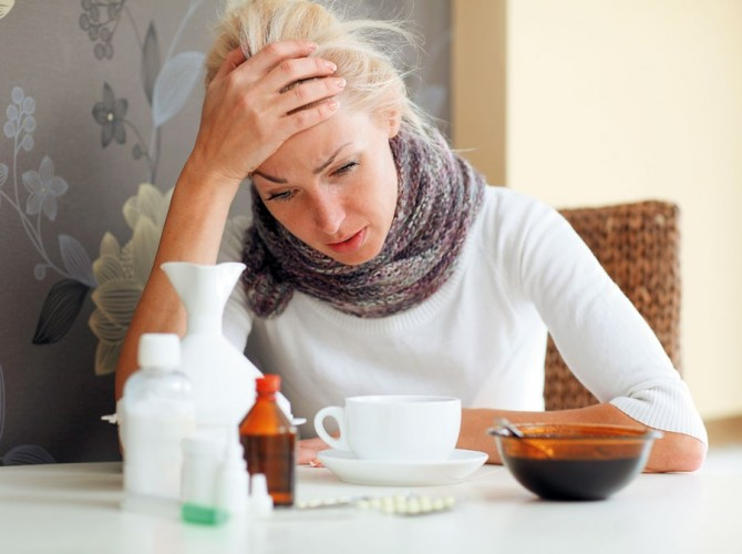 голова болит при гриппе
