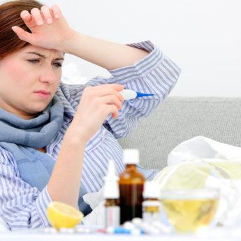 Высокая температура при простуде и гриппе